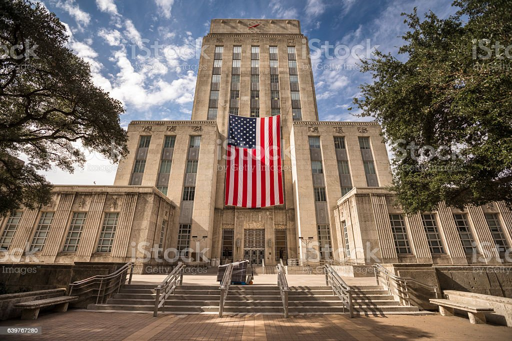Houston City Hall stock photo