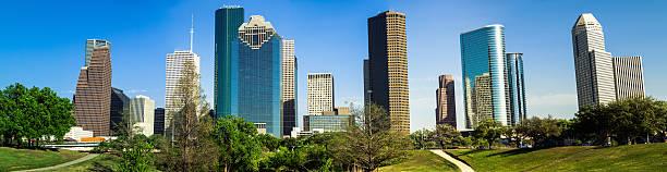 panorama der Innenstadt von Houston – Foto