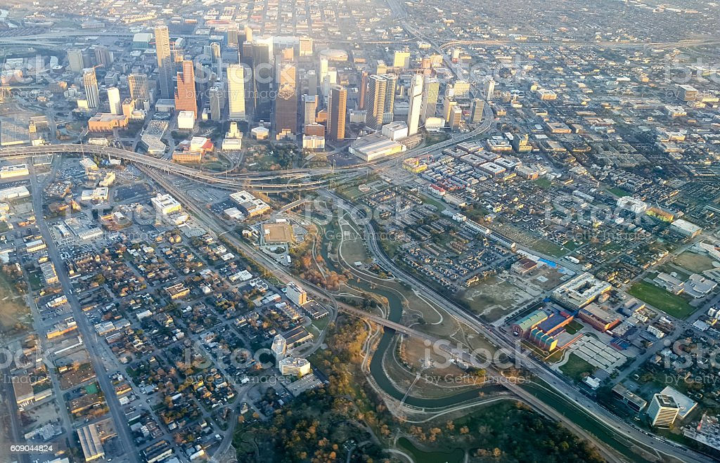 Houston from the air stock photo