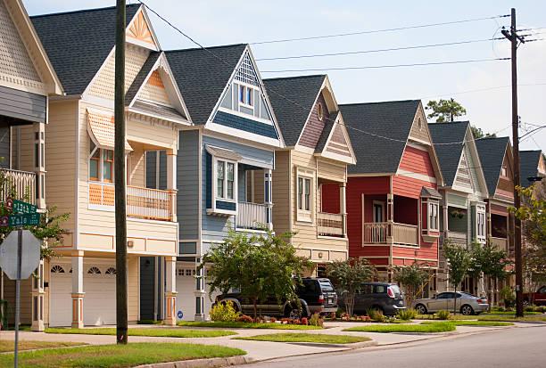 Houston Heights stock photo