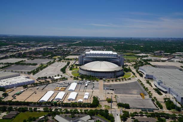 Houston Lockdown, NRG Park Area - Field Hospital stock photo