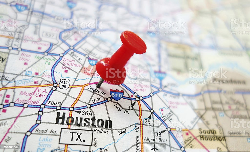 Houston map stock photo