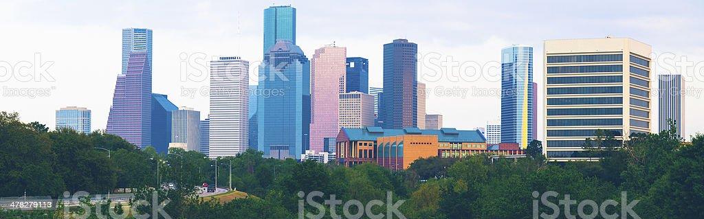 Houston Skyline Downtown Skyscrapers royalty-free stock photo