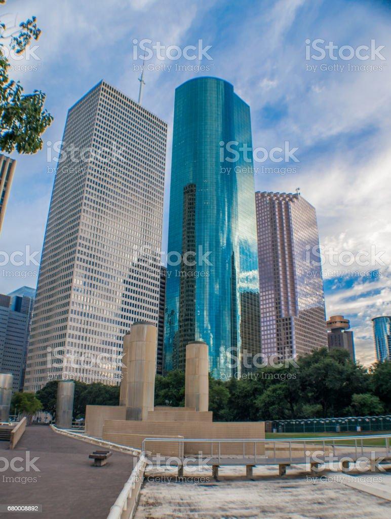 Houston Skyscrapers stock photo