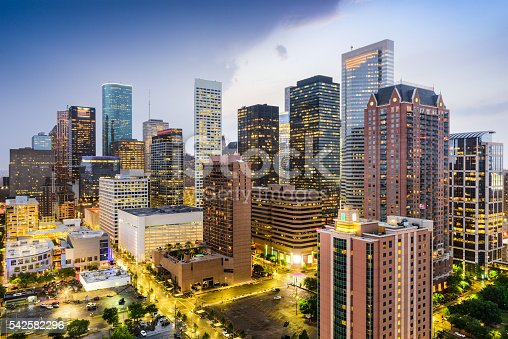 542727462 istock photo Houston Texas Cityscape 542582296