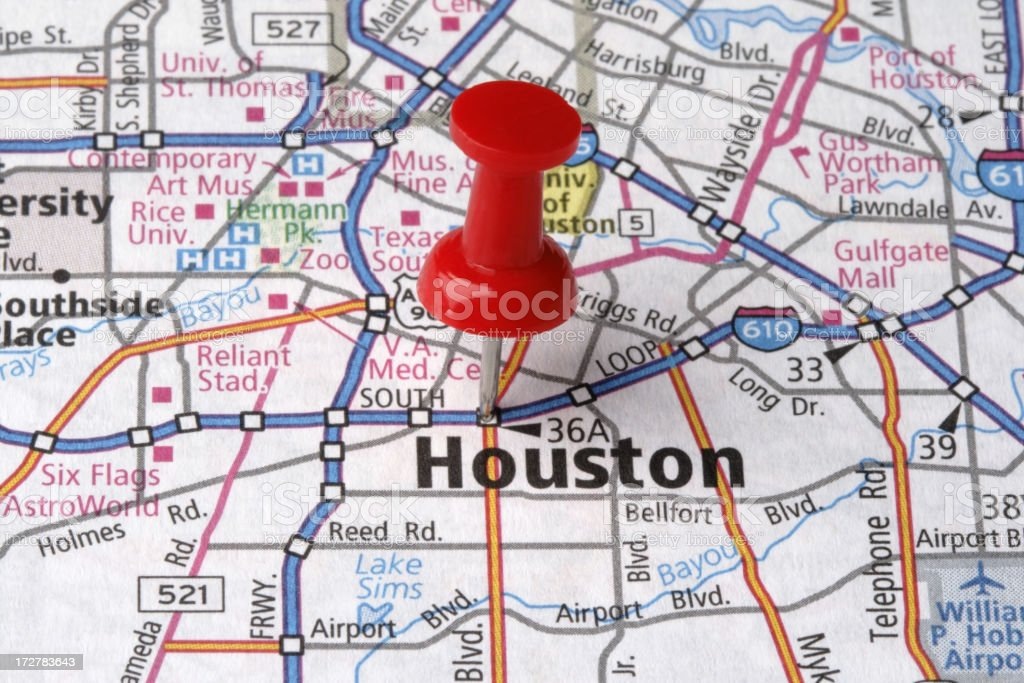 Houston Texas On A Map stock photo iStock