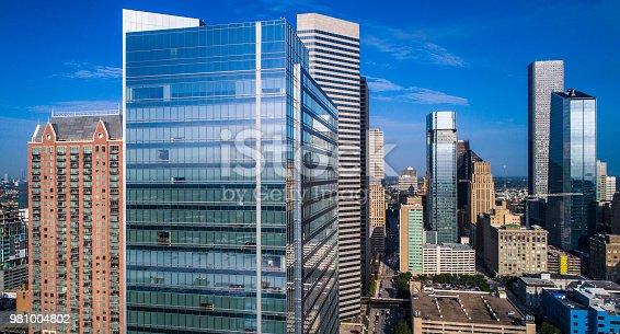 542727462 istock photo Houston Texas Skyline Cityscape modern skyscrapers rise in the big Texas gulf city 981004802
