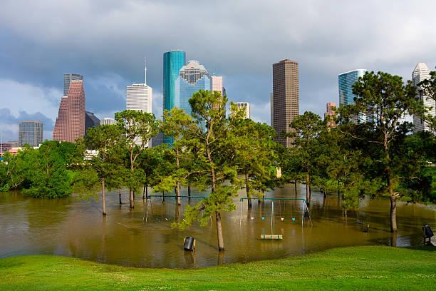 Houston Texas skyline landscape  stock photo