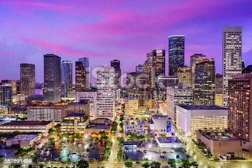 542727462 istock photo Houston, Texas Skyline 587891486