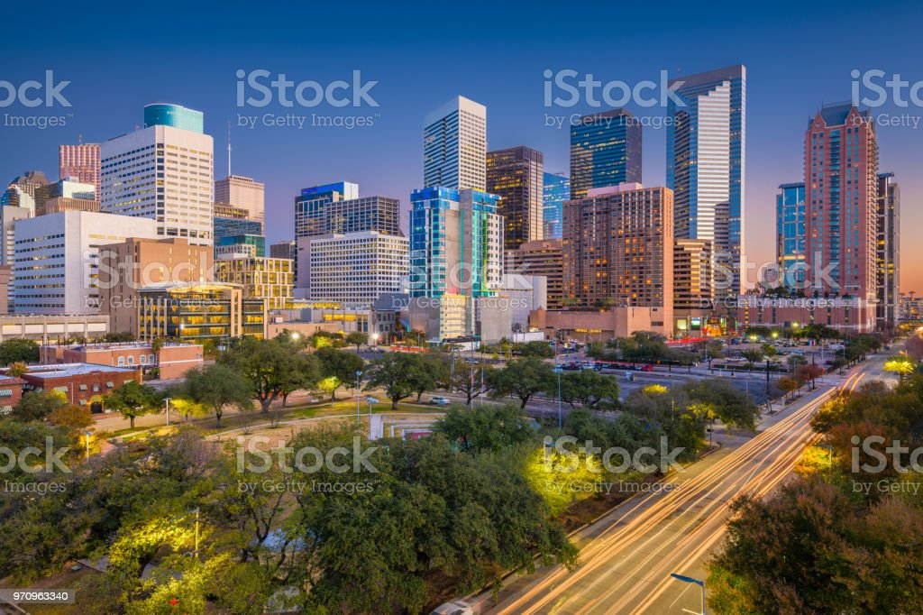 Houston, Texas, USA Skyline stock photo