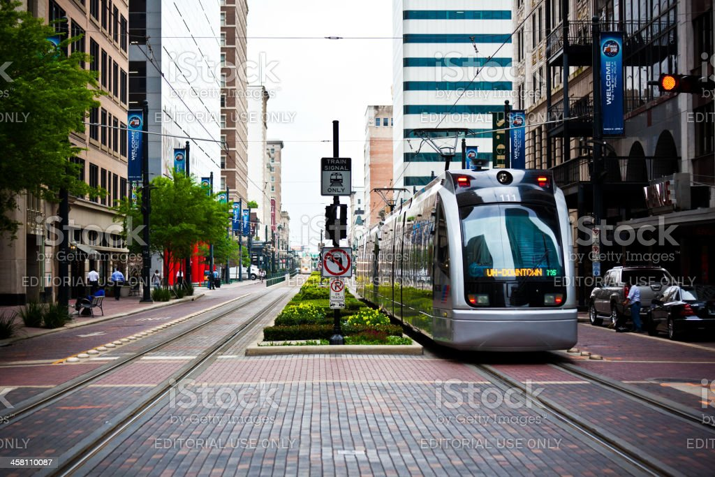 Houston Tram stock photo