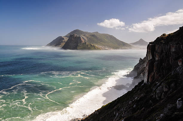 Hout Bay - Western Cape, South Africa Hout Bay seen from Chapman's Peak Drive. hout stock pictures, royalty-free photos & images