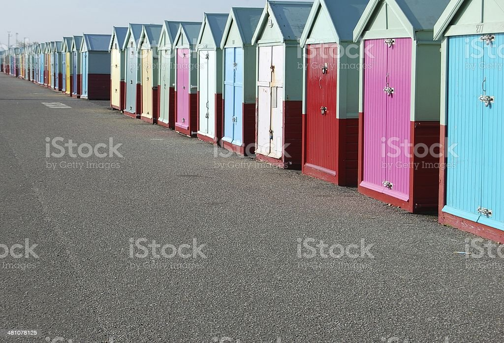 Hove Huts stock photo