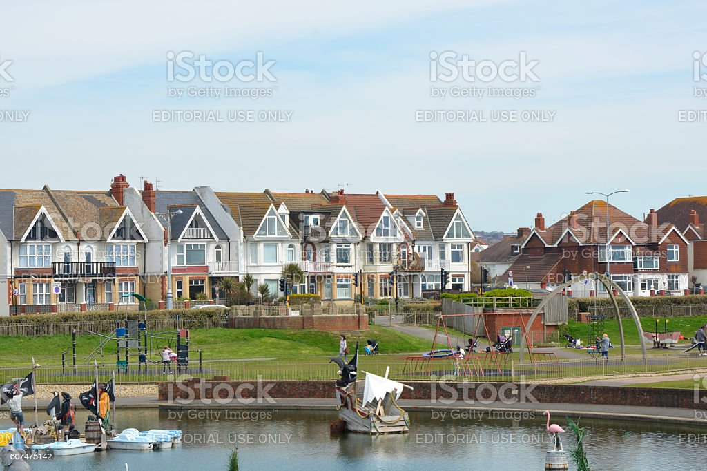Hove Lagoon, Brighton, Sussex, England stock photo