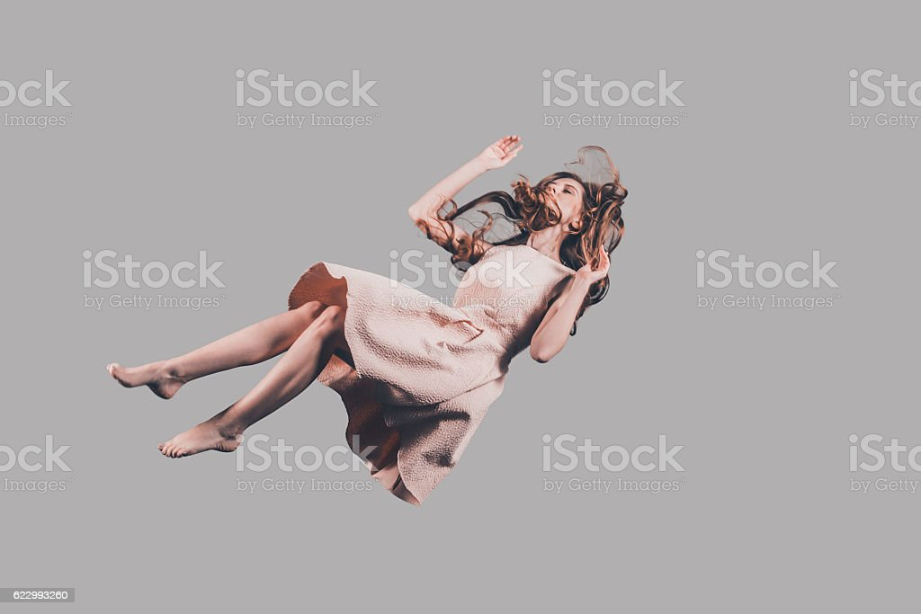 Hovering beauty. stock photo