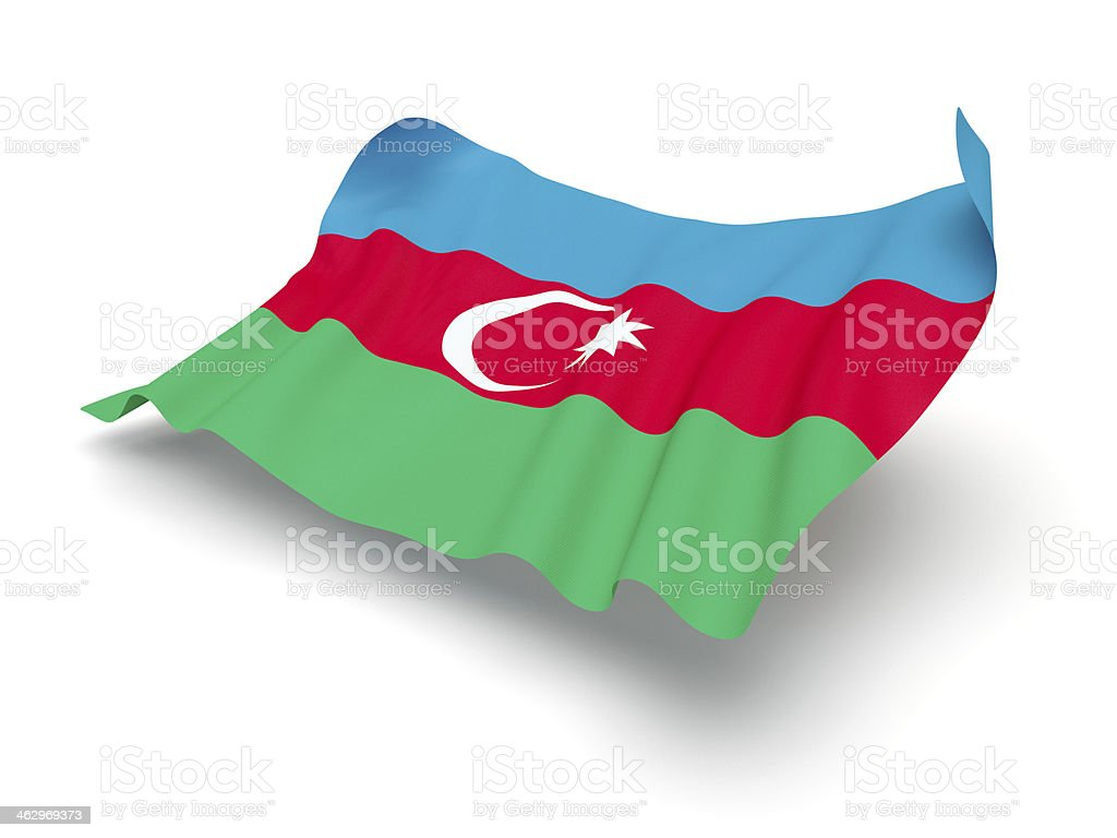 Hovering Flag of Azerbaijan (Clipping Path) stock photo