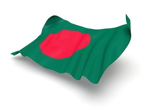 Hovering Flag of Bangladesh (Clipping Path) stock photo