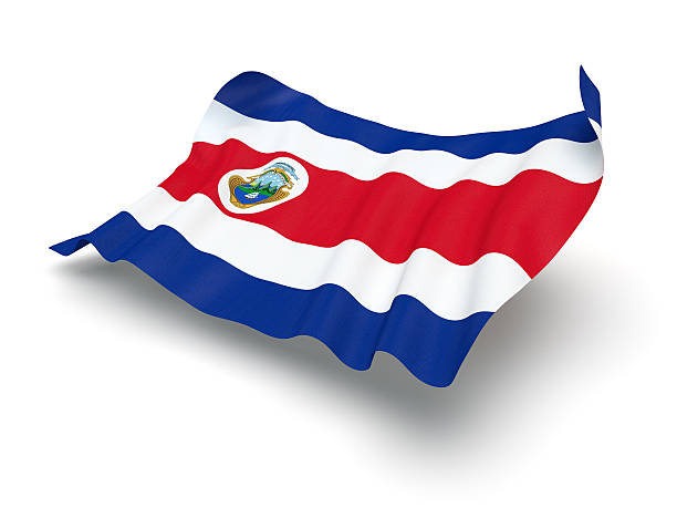 Cierne bandera de Costa Rica (Clipping Path (Borde de corte)) - foto de stock