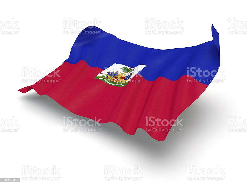 Hovering Flag of Haiti (Clipping Path) stock photo