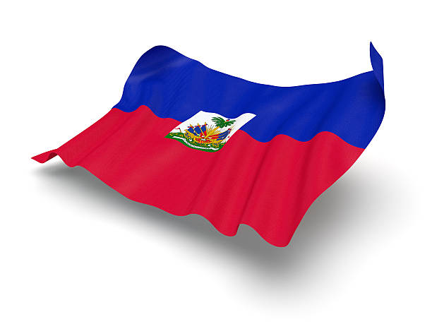 Hovering Flag of Haiti (Clipping Path) Flag of the Republic of Haiti with clipping path. CG-image. Haiti Flag stock pictures, royalty-free photos & images