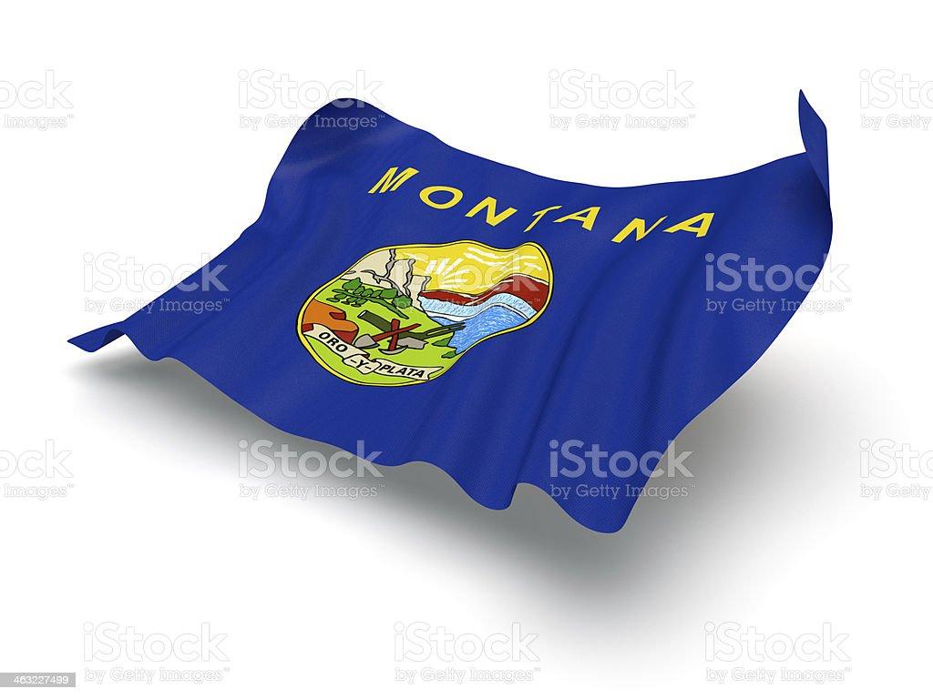 Pairando bandeira de Montana (Traçado de Recorte) - foto de acervo