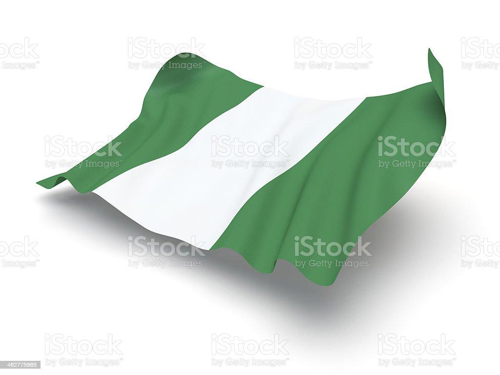 Cierne bandera de Nigeria (Clipping Path (Borde de corte)) - foto de stock