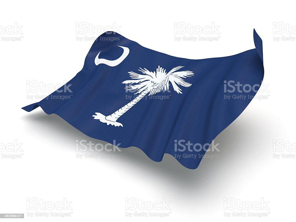 Hovering Flag of South Carolina (Clipping Path) stock photo