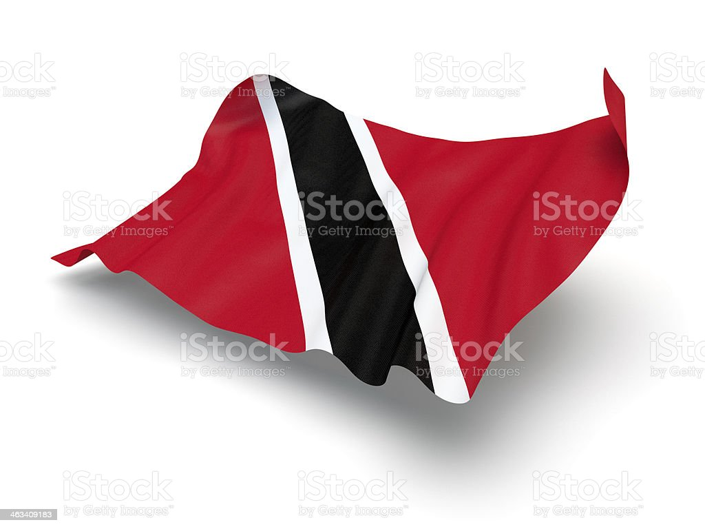 Hovering Flag of Trinidad and Tobago (Clipping Path) stock photo
