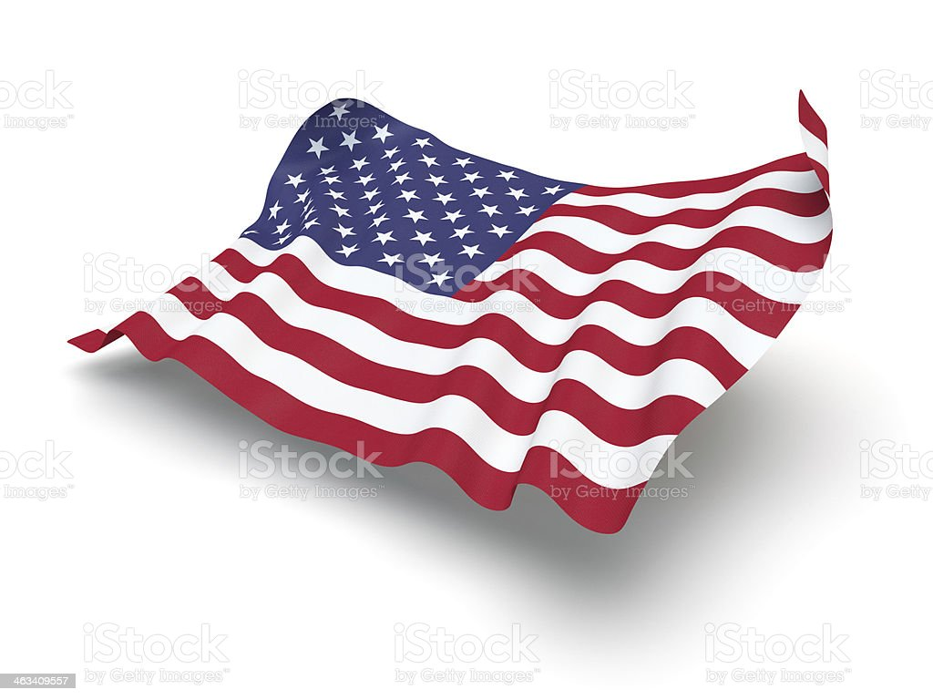 Hovering Flag of USA, the (Clipping Path) stock photo