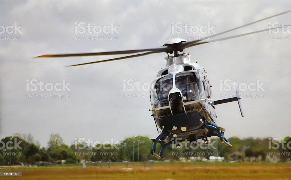 Hovering helicopter royalty-free stock photo