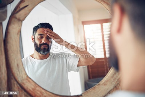 istock How am I going to face this day? 643310546