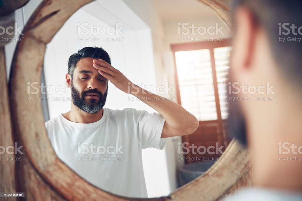How am I going to face this day? stock photo