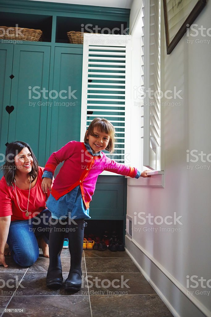 How am I supposed to walk in these, anyway? stock photo