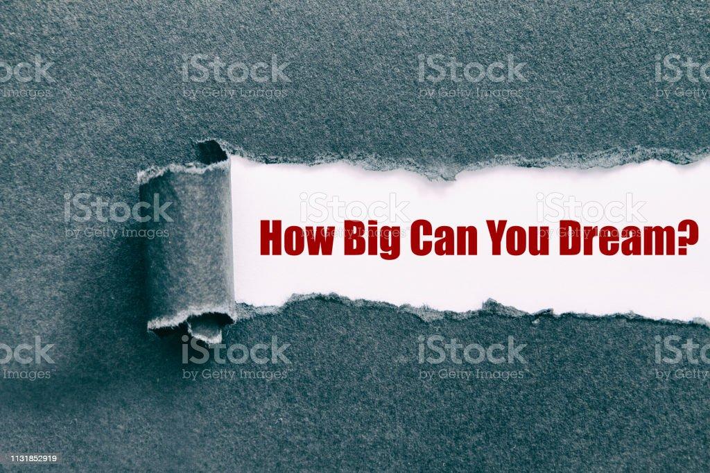 Ne kadar büyük hayal edebilirsiniz? stok fotoğrafı