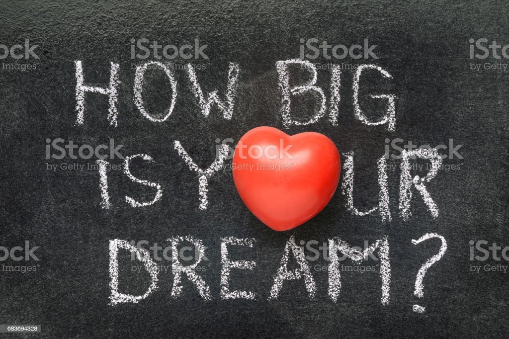 how big is your dream stock photo