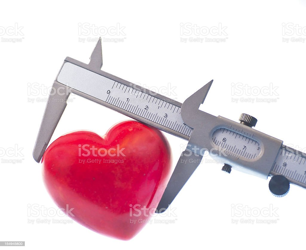How big is your heart? stock photo