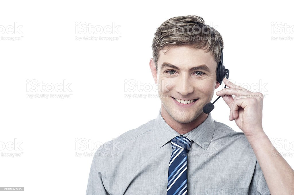 How can I assist you today? stock photo