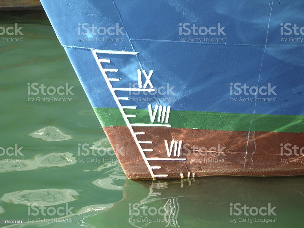How deep is the ship? royalty-free stock photo