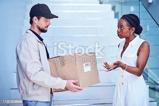 istock How did my package end up like that? 1132309868