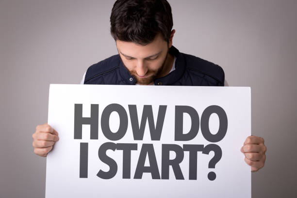how do i start? - beginnings stock photos and pictures
