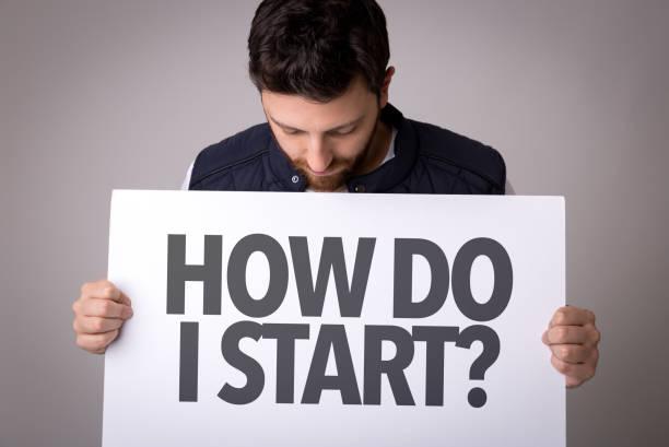 Como eu começo? - foto de acervo