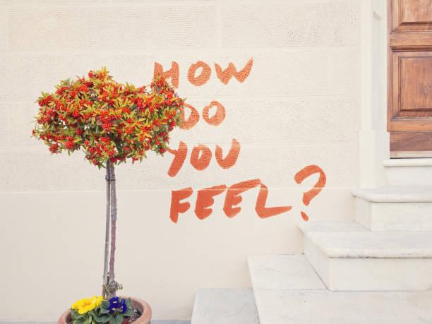 how do you feel? stock photo