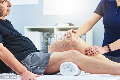 1133511905istockphoto How far can you bend your leg for me? 1133610653
