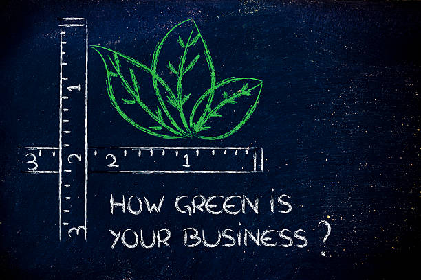 how green is your business? stock photo