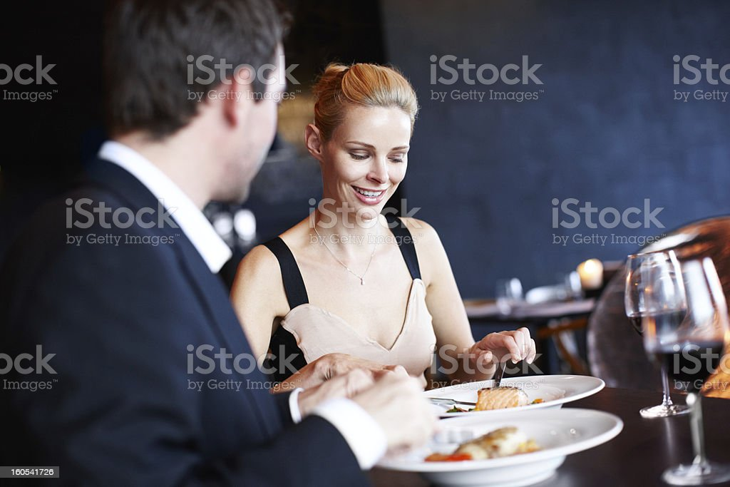 How is your meal? royalty-free stock photo
