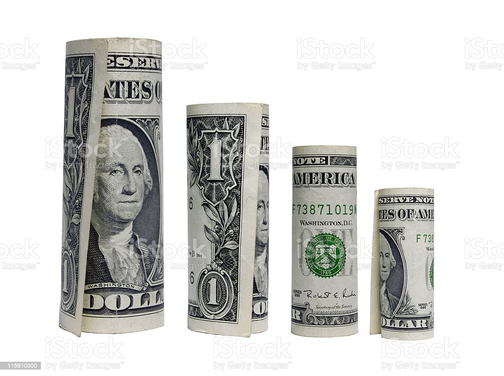 How low can the dollar go royalty-free stock photo