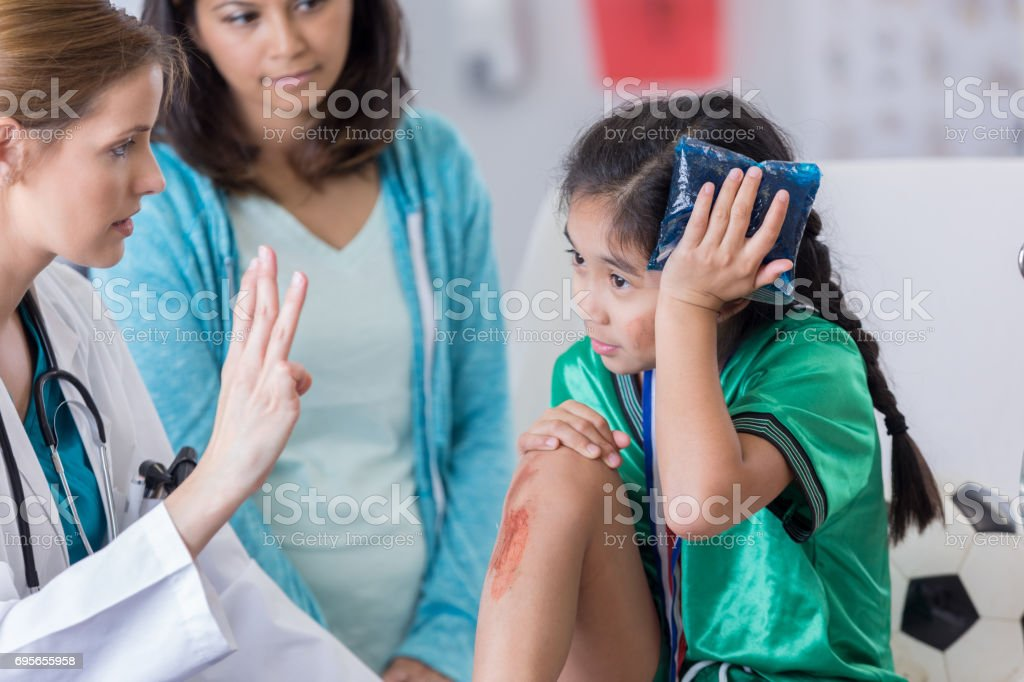 How many fingers am I holding up? stock photo