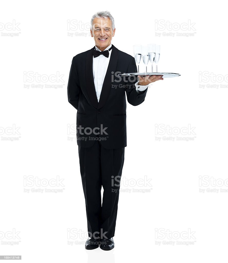 'How may I be of service?' royalty-free stock photo