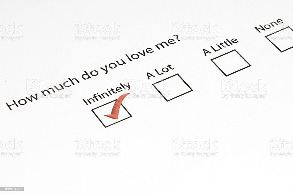 How Much Do You Love Me? royalty-free stock photo