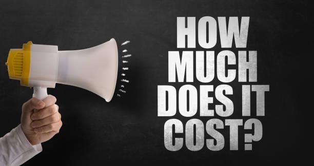 ¿Cuánto cuesta? - foto de stock